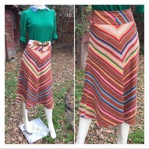 Ralph Lauren A-Line Serape Skirt Southwestern